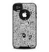The Black and White Valentine Sketch Pattern Skin for the iPhone 4-4s OtterBox Commuter Case
