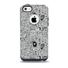The Black and White Valentine Sketch Pattern Skin for the iPhone 5c OtterBox Commuter Case