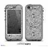 The Black and White Valentine Sketch Pattern Skin for the iPhone 5c nüüd LifeProof Case