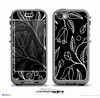The Black and White Vector Branches Skin for the iPhone 5c nüüd LifeProof Case