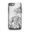 The Black and White Vector Butterfly Floral Apple iPhone 6 Otterbox Symmetry Case Skin Set