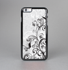 The Black and White Vector Butterfly Floral Skin-Sert Case for the Apple iPhone 6 Plus