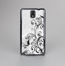 The Black and White Vector Butterfly Floral Skin-Sert Case for the Samsung Galaxy Note 3