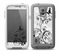 The Black and White Vector Butterfly Floral Skin for the Samsung Galaxy S5 frē LifeProof Case