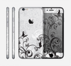 The Black and White Vector Butterfly Floral Skin for the Apple iPhone 6