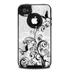 The Black and White Vector Butterfly Floral Skin for the iPhone 4-4s OtterBox Commuter Case