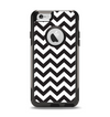 The Black and White Zigzag Chevron Pattern Apple iPhone 6 Otterbox Commuter Case Skin Set