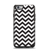 The Black and White Zigzag Chevron Pattern Apple iPhone 6 Otterbox Symmetry Case Skin Set