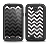 The Black and White Zigzag Chevron Pattern Samsung Galaxy S4 LifeProof Fre Case Skin Set