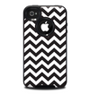 The Black and White Zigzag Chevron Pattern Skin for the iPhone 4-4s OtterBox Commuter Case