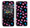 The Black with Pink & Blue Vector Tweety Birds Skin for the Apple iPhone 5c