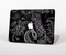 "The Black with Thin White Paisley Pattern Skin Set for the Apple MacBook Pro 15"" with Retina Display"