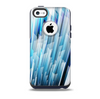 The Blue 3d Vector Spikes Skin for the iPhone 5c OtterBox Commuter Case