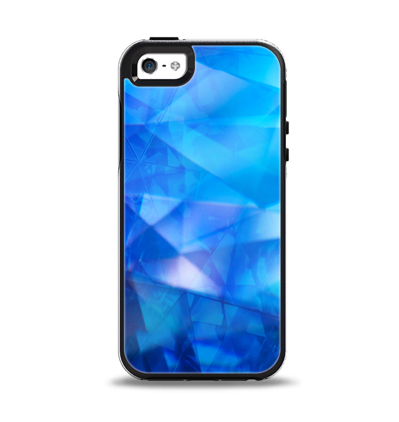 the latest 395b2 01338 The Blue Abstract Crystal Pattern Apple iPhone 5-5s Otterbox Symmetry Case  Skin Set