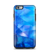 The Blue Abstract Crystal Pattern Apple iPhone 6 Plus Otterbox Symmetry Case Skin Set