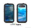 The Blue Abstract Crystal Pattern Skin For The Samsung Galaxy S3 LifeProof Case