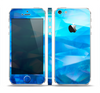 The Blue Abstract Crystal Pattern Skin Set for the Apple iPhone 5