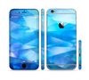 The Blue Abstract Crystal Pattern Sectioned Skin Series for the Apple iPhone 6