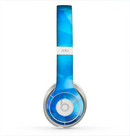 The Blue Abstract Crystal Pattern Skin for the Beats by Dre Solo 2 Headphones