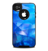The Blue Abstract Crystal Pattern Skin for the iPhone 4-4s OtterBox Commuter Case