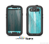The Blue Abstract Wood Planks Skin For The Samsung Galaxy S3 LifeProof Case