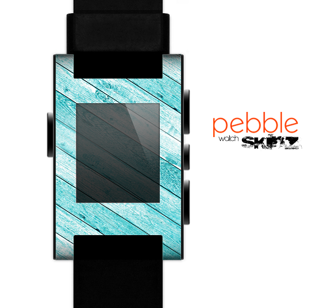 The Blue Abstract Wood Planks Skin for the Pebble SmartWatch