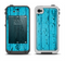 The Blue Aged Wood Panel Apple iPhone 4-4s LifeProof Fre Case Skin Set