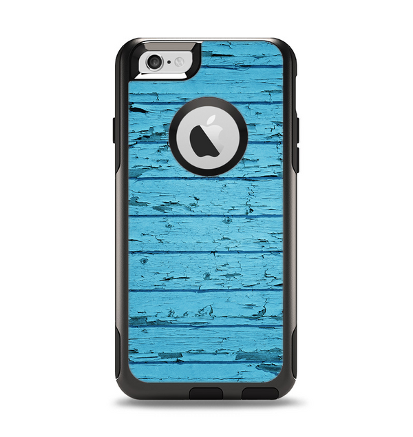 The Blue Aged Wood Panel Apple iPhone 6 Otterbox Commuter Case Skin Set