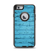 The Blue Aged Wood Panel Apple iPhone 6 Otterbox Defender Case Skin Set