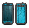The Blue Aged Wood Panel Samsung Galaxy S3 LifeProof Fre Case Skin Set