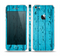 The Blue Aged Wood Panel Skin Set for the Apple iPhone 5