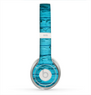 The Blue Aged Wood Panel Skin for the Beats by Dre Solo 2 Headphones