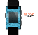 The Blue Aged Wood Panel Skin for the Pebble SmartWatch