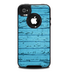 The Blue Aged Wood Panel Skin for the iPhone 4-4s OtterBox Commuter Case