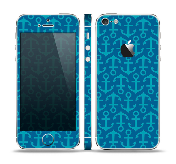 The Blue Anchor Collage V2 Skin Set for the Apple iPhone 5