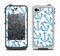 The Blue Anchor Stitched Pattern Apple iPhone 4-4s LifeProof Fre Case Skin Set