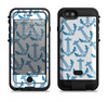 The Blue Anchor Stitched Pattern Apple iPhone 6/6s LifeProof Fre POWER Case Skin Set