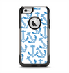 The Blue Anchor Stitched Pattern Apple iPhone 6 Otterbox Commuter Case Skin Set