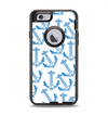 The Blue Anchor Stitched Pattern Apple iPhone 6 Otterbox Defender Case Skin Set