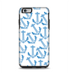 The Blue Anchor Stitched Pattern Apple iPhone 6 Plus Otterbox Symmetry Case Skin Set