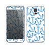The Blue Anchor Stitched Pattern Skin For the Samsung Galaxy S5
