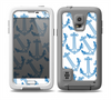 The Blue Anchor Stitched Pattern Skin Samsung Galaxy S5 frē LifeProof Case