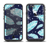 The Blue Aztec Feathers and Stars Apple iPhone 6/6s LifeProof Fre Case Skin Set