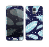 The Blue Aztec Feathers and Stars Skin For the Samsung Galaxy S5