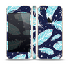 The Blue Aztec Feathers and Stars Skin Set for the Apple iPhone 5s