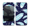 The Blue Aztec Feathers and Stars Skin for the Apple iPhone 4-4s