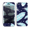 The Blue Aztec Feathers and Stars Skin for the Apple iPhone 5c