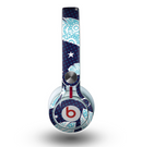 The Blue Aztec Feathers and Stars Skin for the Beats by Dre Mixr Headphones