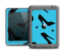 The Blue & Black High-Heel Pattern V12 Apple iPad Air LifeProof Fre Case Skin Set