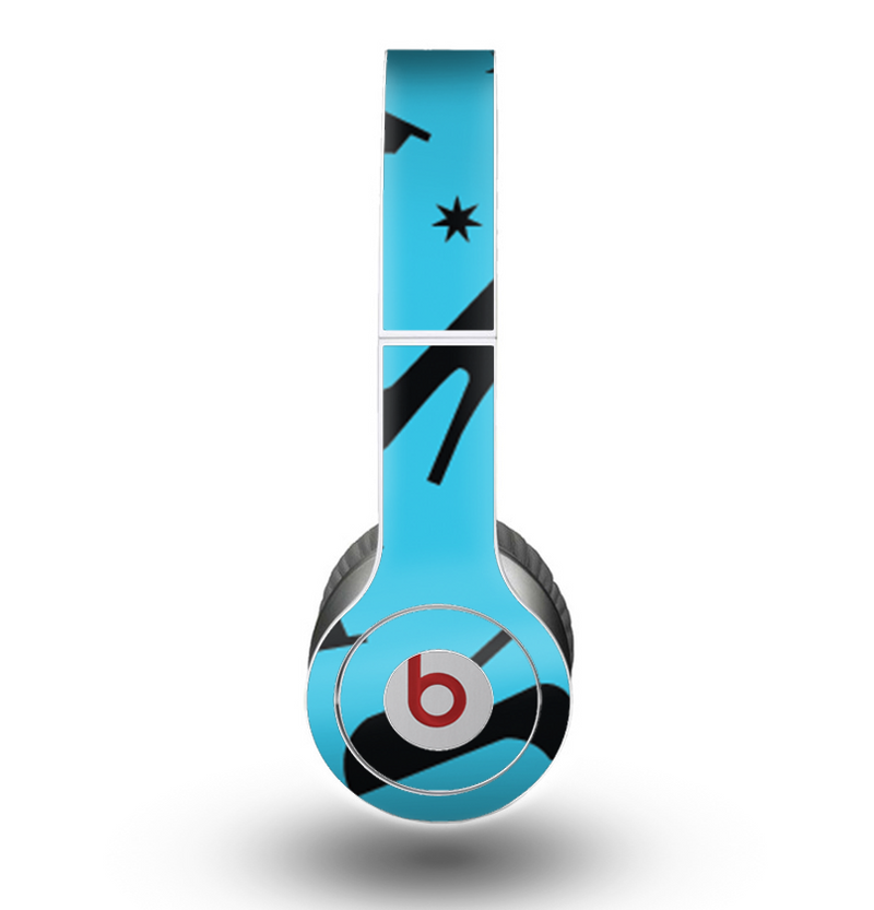 The Blue & Black High-Heel Pattern V12 Skin for the Beats by Dre Original Solo-Solo HD Headphones